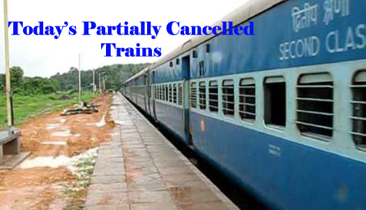 list of partially cancel trains on 10th may 2015